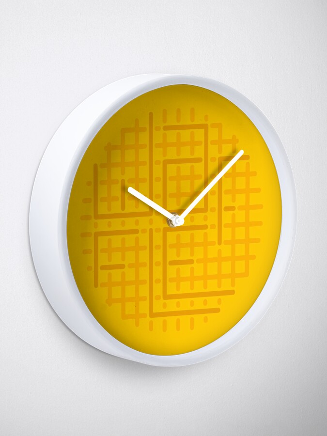 Alternate view of cut out the waffle Clock