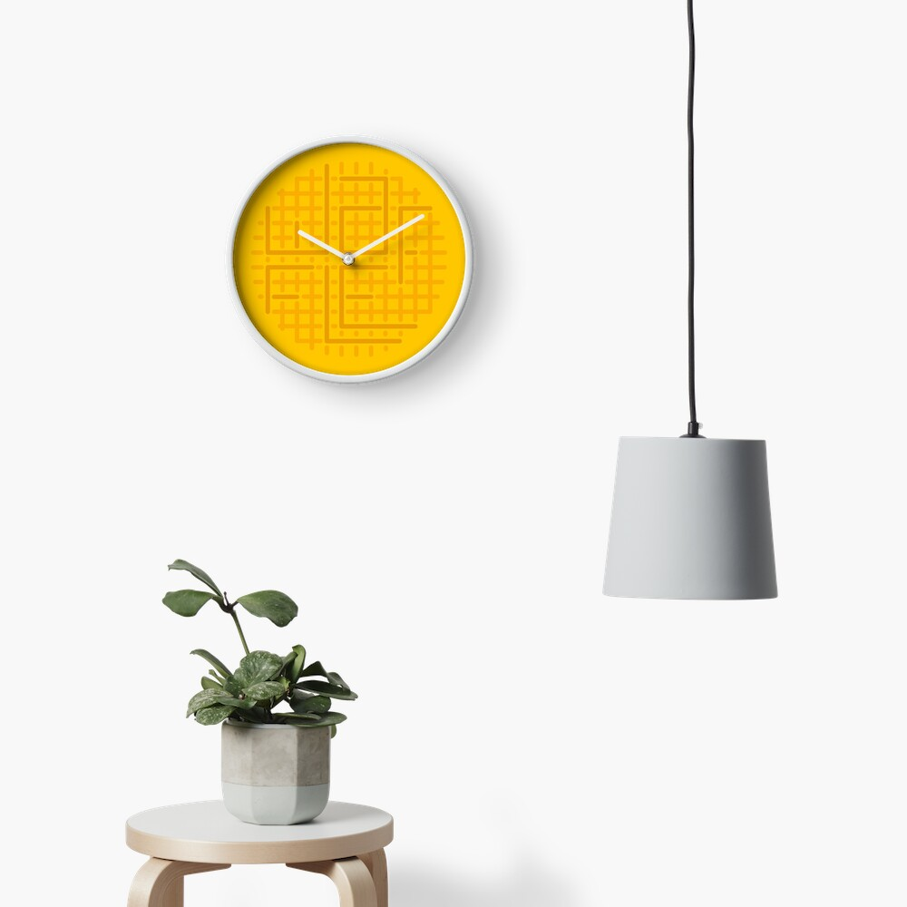 cut out the waffle Clock