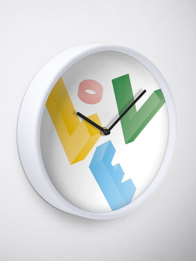 Alternate view of love what you do Clock