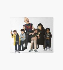 main Characters from The Goonies Art Board Print