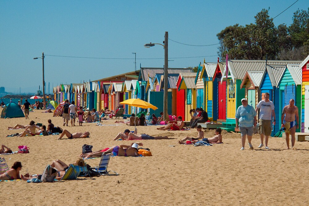 The Brighton Boatsheds - an Aussie icon #1 by Mark Elshout