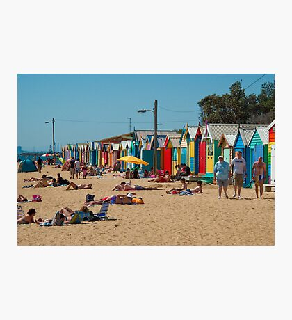 The Brighton Boatsheds - an Aussie icon #1 Photographic Print
