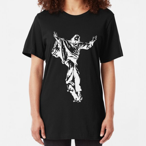 Jesus The Skateboarder Slim Fit T-Shirt
