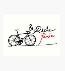 ride fixie Art Print