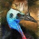 Cassowary Portrait in Pastels by Lesley Smitheringale