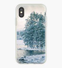 Winter at a Loch Near Kingussie (Cat Burton Photography) iPhone Case