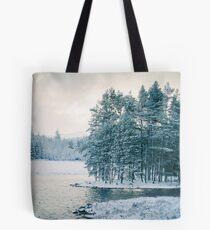 Winter at a Loch Near Kingussie (Cat Burton Photography) Tote Bag