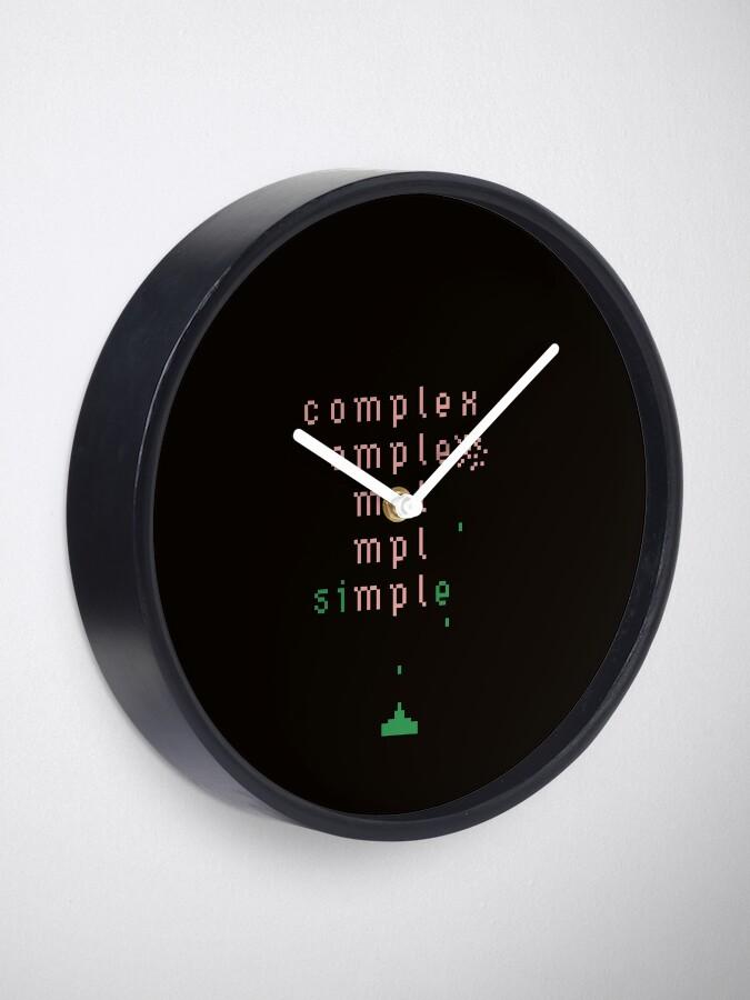 Alternate view of keep it simple  Clock