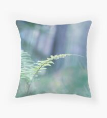 Ferns and Daydreams (Cat Burton Photography) Throw Pillow
