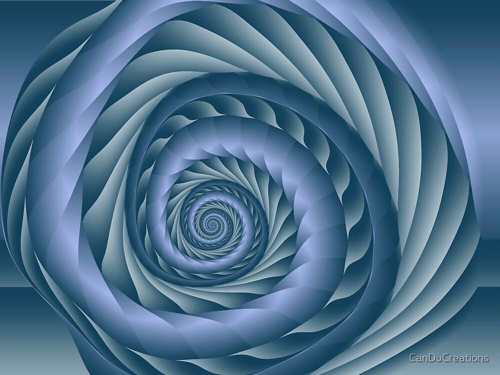 The blue spiral by CanDuCreations