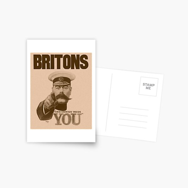 Britons Your Country Needs You - Lord Kitchener Postcard
