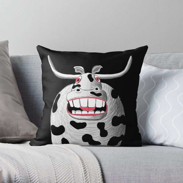 The New Cow! Throw Pillow