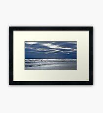 Silhouette on Long Sands Beach Framed Print