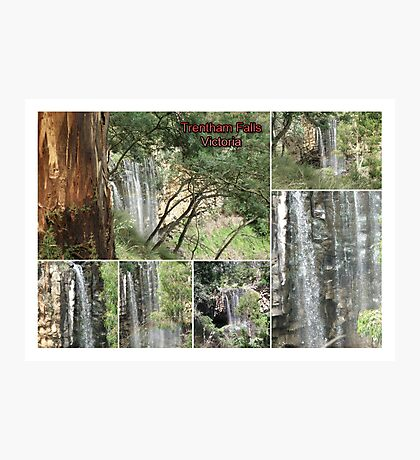 Trentham Falls..Victoria..Collage Photographic Print