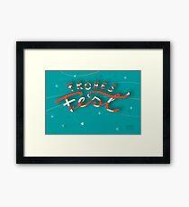 FROHES FEST - mit Sternchen Gerahmter Kunstdruck