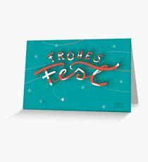 FROHES FEST - mit Sternchen Grußkarte