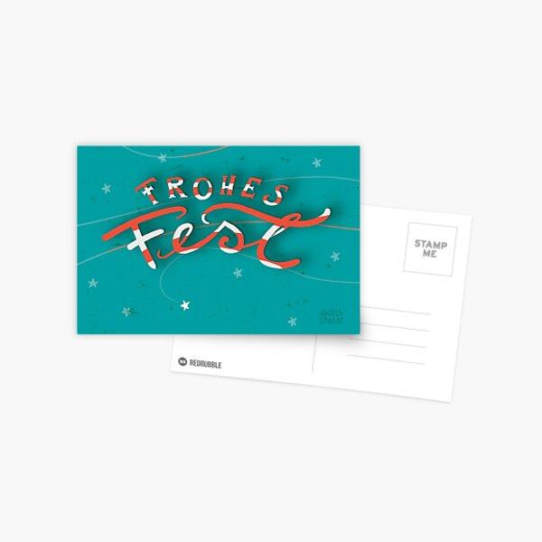 FROHES FEST - mit Sternchen Postkarte