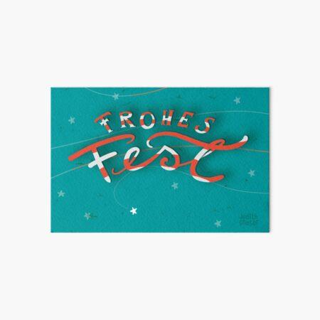 FROHES FEST - mit Sternchen Galeriedruck