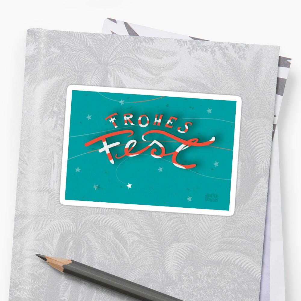 FROHES FEST - mit Sternchen Sticker