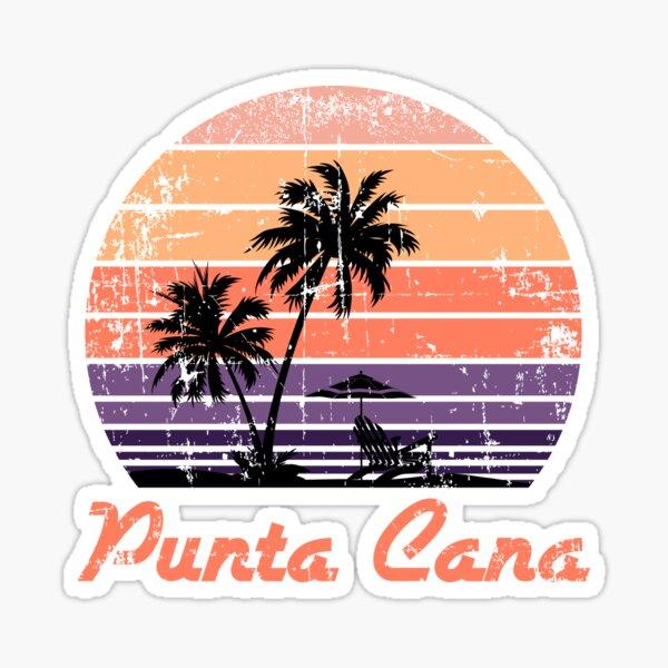 Retro Punta Cana Vacation souvenir design Sticker