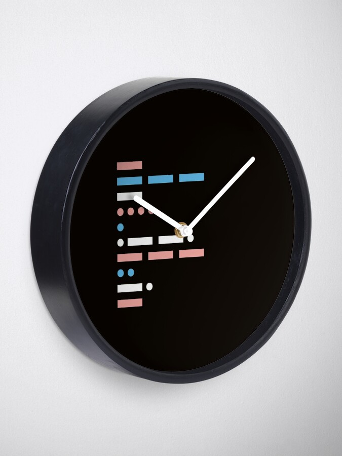 Alternate view of morse code - communication in its simplest form Clock