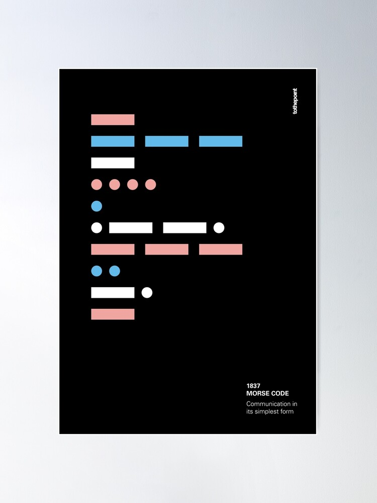 Alternate view of morse code - communication in its simplest form Poster