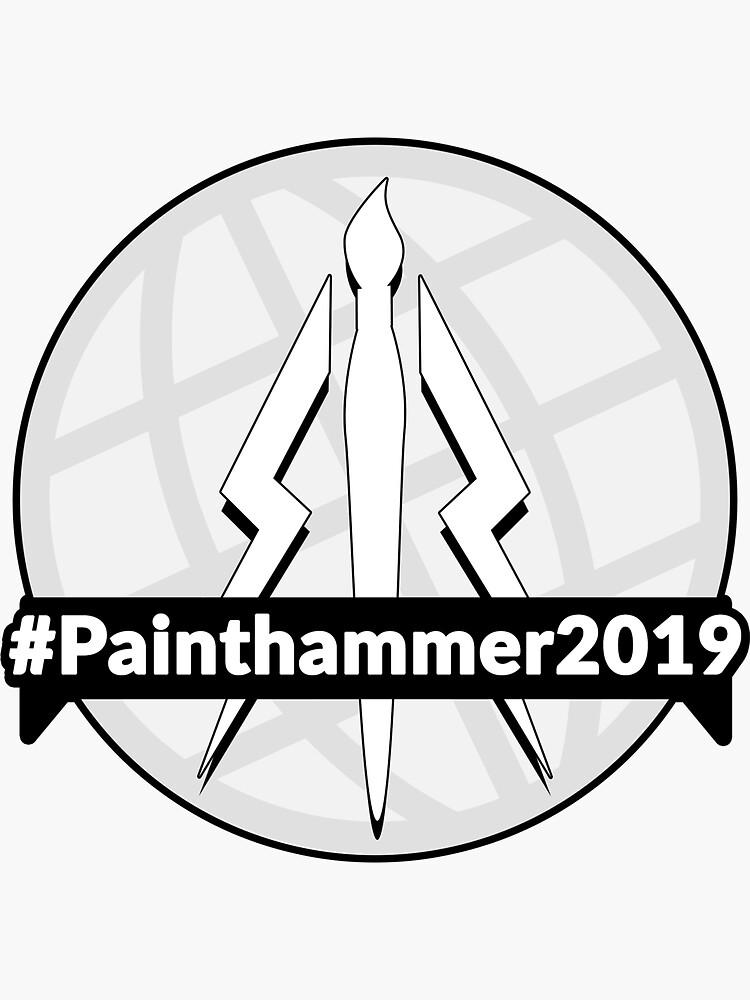 Painthammer 2019 Greyscale Logo by JewelKnightJess
