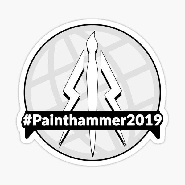 Painthammer 2019 Greyscale Logo Sticker