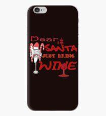 Santa claus drinking wine iPhone Case