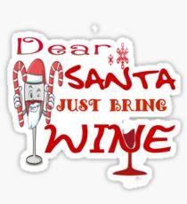 Santa claus drinking wine Sticker