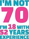 Its My Birthday - 70th Birthday Shirt by wantneedlove