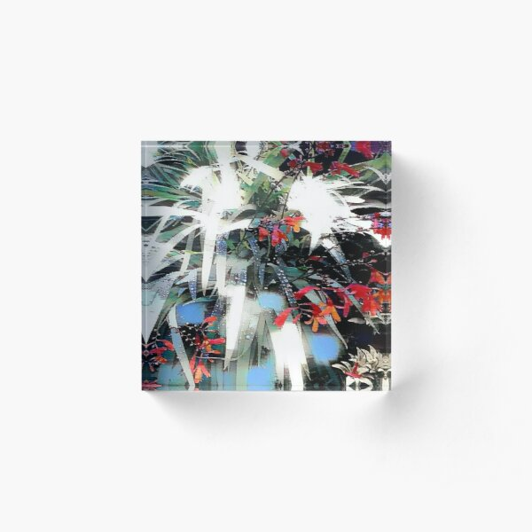 Abstract Wildflowers Acrylic Block
