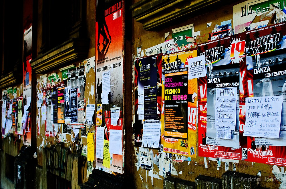 Information overload, Bologna, Italy by Andrew Jones