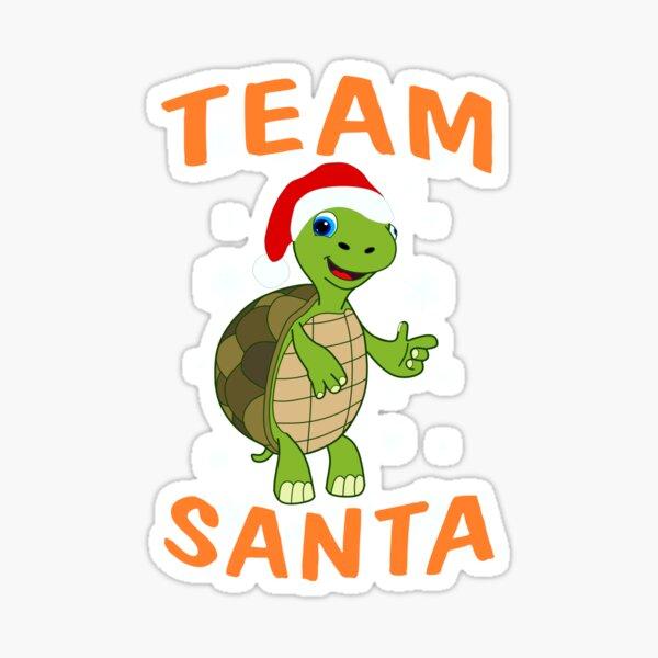Team Schildkröte Santa für Service Crews Sticker