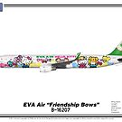 "Airbus A321 - EVA Air ""Friendship Bows"" by TheArtofFlying"