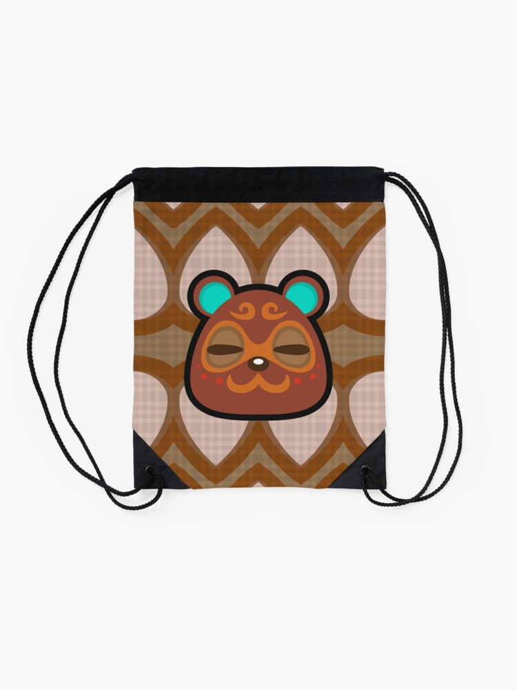 Alternate view of CLAY ANIMAL CROSSING Drawstring Bag
