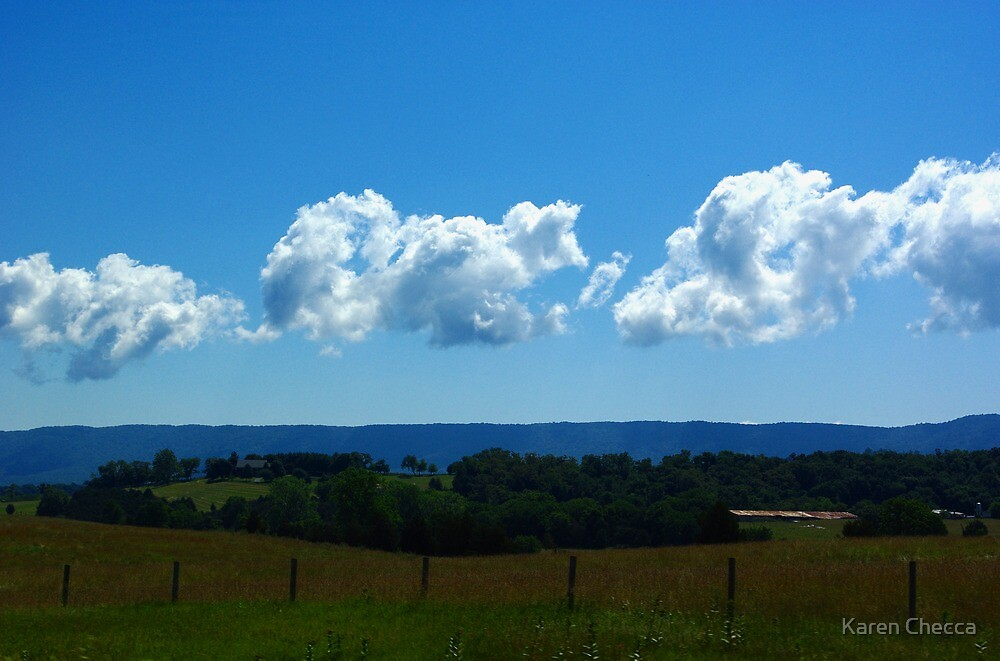 Clouds Over The Blue Ridge by Karen Checca