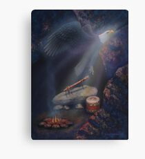 Spirit of the eagle flute Canvas Print