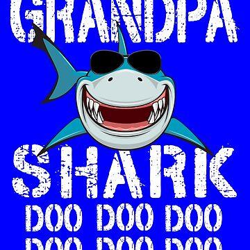 Grandpa Shark Family Shark Matching Gift by Teeshirtrepub