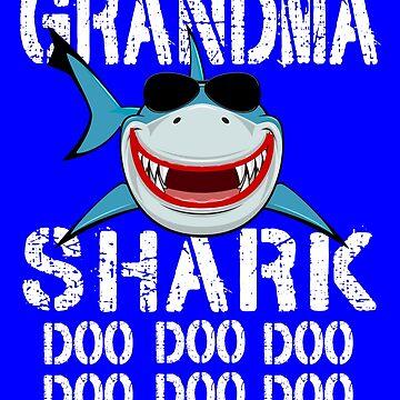 Grandma Shark Family Shark Matching Gift by Teeshirtrepub