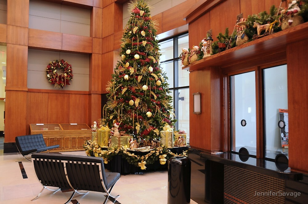 Hallie Brown Ford Fine Arts Center Decorated At Christmas by JenniferSavage