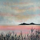 Island Sunset by linmarie