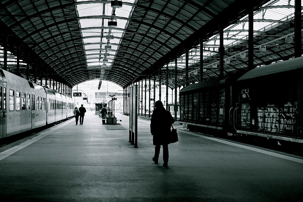 even train station feels solitude  by anisja