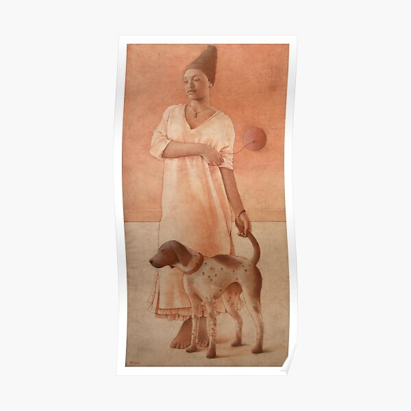 Girl With A Dog Poster