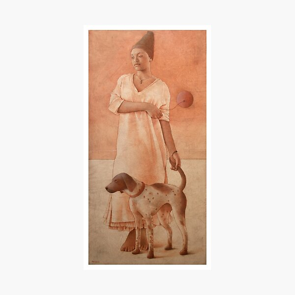 Girl With A Dog Photographic Print