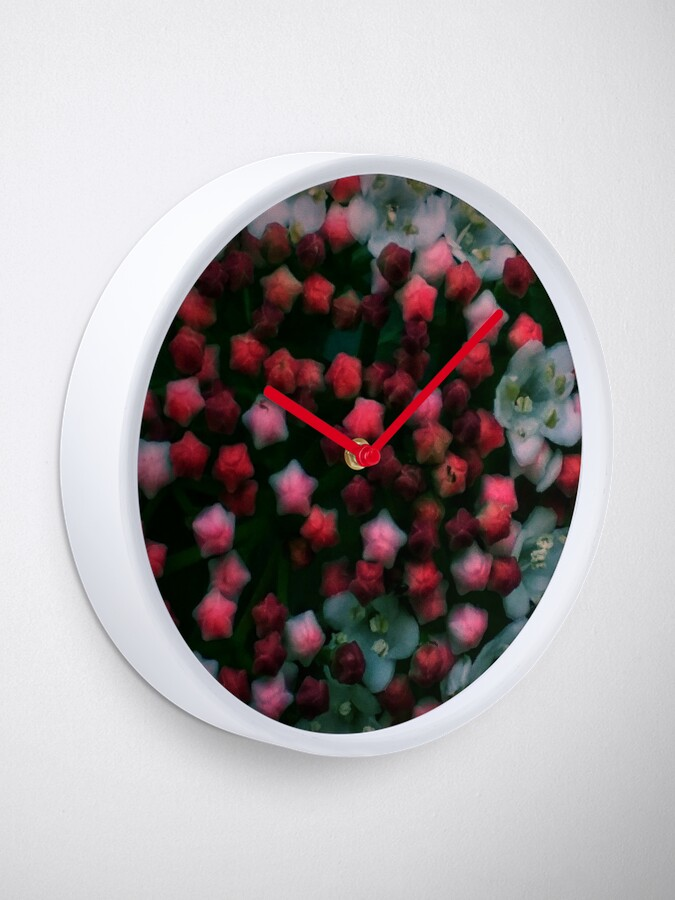 Alternate view of Floral Stars -Bright Clock
