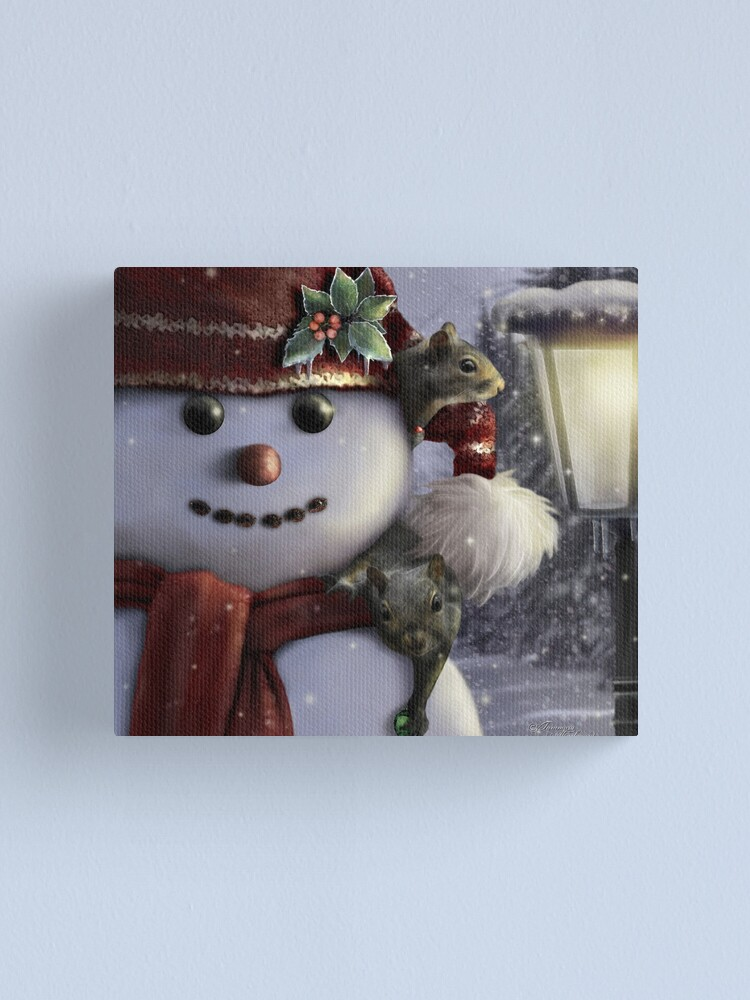Alternate view of Holiday Friends Canvas Print