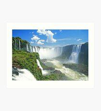 Iguassu Falls - Brazil Art Print