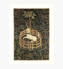 Unicorn in Captivity Art Print