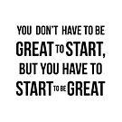 Start! by fimbisdesigns